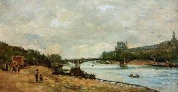 Paris the kBridge of Saint Peres 1882